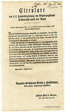 K.u.K. Circular, Verordnung, April 1822, Tabakschwärzungen