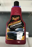 Meguiar's G18116 Clear Coat Safe Scratch Swirl Remover Polishing Compound 16 oz