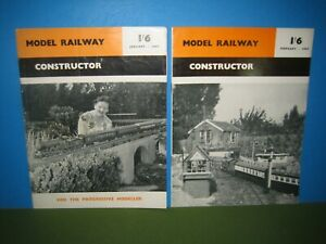 MODEL RAILWAY CONSTRUCTOR - 2no JANUARY & FEBRUARY 1957 > VGC VINTAGE SEE PIC'S