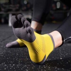 Men and women cotton Breathable sweat absorbing  five finger socks Anti Friction