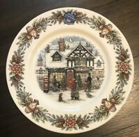 """NEW! Royal Stafford Christmas TOY SHOP Old Fashioned 11"""" Dinner Plate England"""