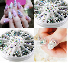 400* 5 Sizes DIY Nail Art Care Tips Gems Crystal Glitter Rhinestone Decor Tool