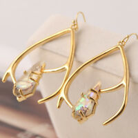 Alexis Bittar Multi-Color Crystal Stone Gold Plated Drop Earrings