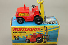 Matchbox No.15 Fork Lift Truck / Gabelstabler in OVP