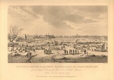 RIVER THAMES FROST FAIR, 1684-84. North west view. London. WILKINSON 1834