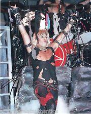 MOTLEY CRUE SINGER VINCE NEIL HAND SIGNED 8X10 PHOTO W/COA HAIR METAL LEGENDS