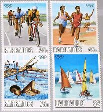 BARBADOS 1988 701-04 727-30 Olympics Seoul Cycling Swimming Running Sports MNH