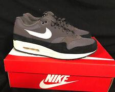 NEW Men's Size 9.5 Nike Air Max 1 Shoes Thunder Grey Black Sail RARE AH8145-012