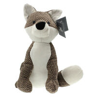 Textured Fabric Brown Fox Animal Shape Weighted Home Decorative Doorstop Stopper