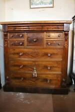 A Stunning Victorian Flame Mahogany Chest of Drawers