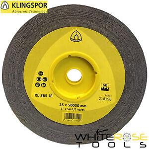 Klingspor Ossido di Alluminio Abrasivo Panno Rotolo Carta Metallo KL385JF