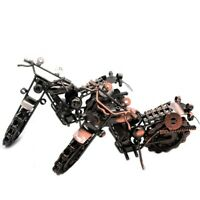 Vintage Motorcycle Model Retro Motor Figurine Decor Iron Motorbike Prop Handmade