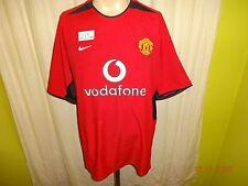 """Manchester UNITED ORIGINALE NIKE maglia di casa 2002/03 """"Vodafone"""" Taglia XL"""
