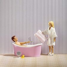 More details for lundby 18th scale bath set for dolls house (60-3063-00)