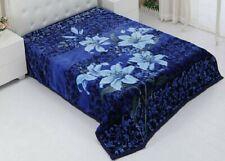 Korean Mink Blanket Queen & King Size 14 Lbs Heavy Thick Warm Plush Soft Blue