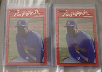 Lot of (2) 1990 Donruss Ken Griffey Jr. #365 Error Card No Period After INC