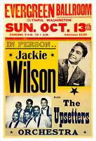 Jackie Wilson 1963 concert poster print