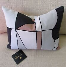 NWT Kelly Wearstler SPECTACLE Color Block Embroidered Decorative Accent Pillow