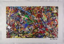 Phil Pierre - BUBBLE GUM 444 - New original abstract acrylic painting on board
