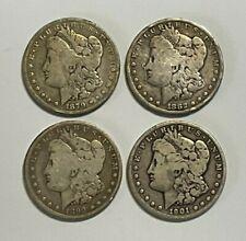 A Lot of 4 Cull Pre 1921 $1 Morgan Dollars, 1879, 1882-O, 1899-O & 1901-O
