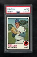 1973 TOPPS #350 TOM SEAVER HOF METS PSA 8 NM/MT SHARP CARD!
