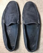 TOD'S Blue Suede Driving Loafer Moccasin Shoes Mens Sz 9W US, 8.5 UK, 42,5 EUR