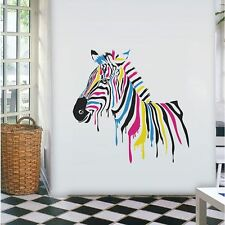5782 | Wall Stickers Animal Drippy Zebra Art