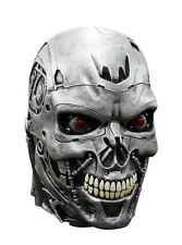 Terminator Endoskull Deluxe Movie Costume Overhead Latex Mask Robot Skynet