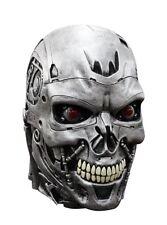 Terminator Endoskull Deluxe Movie Costume Overhead Latex Mask Robot Skynet