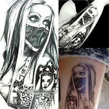 Dragon Angel Tribal Women Arm Black Tattoo Temporary Stickers Adult Body Art 3D