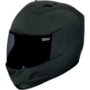 Icon Alliance Dark Helmet (XX-Large, Black) - Used