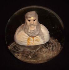 Vintage Tom St. Clair Studio Glass Sulphide Moses 10 Commandments Paperweight