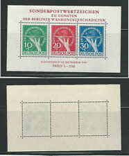 Germany Berlin, Postage Stamp, #9NB3a Sheet Mint LH, 1949