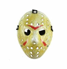 SureWells Friday the 13th Part3 Jason Hockey HORROR deluxe MASK Khaki Masque