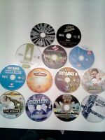 Lot of 13 Game Disc Untested Repair/Resurface Nintendo WII games Wii