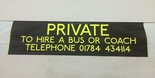 """West London Bus Blind Jan01 34""""- Private To Hire A Bus Or Coach Tel"""