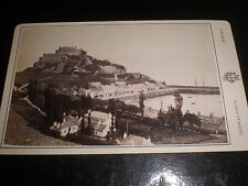 Cdv old photograph Gorey Harbour Jersey by Godfray c1880s