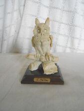 E Farina alabaster owl Italy 1988