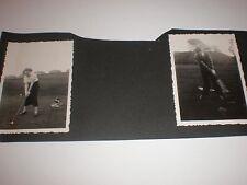 2 Old Photographs golf at Sandyhills Glasgow 1934