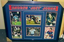 ANDREW JOHNS HAND SIGNED FRAMED NRL NEWCASTLE KNIGHTS NSW BLUES COLLAGE