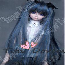 Bjd Doll Wig 1/3 8-9 Dal Pullip AOD DZ AE SD DOD LUTS Dollfie MIKU blue Hair