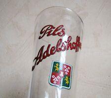 Rare Verre a Bière Emaille Pils Adelshoffen Alsace Flute 5/20 Ancien