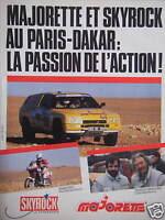 PUBLICITÉ MAJORETTE ET SKYROCK AU PARIS-DAKAR LA PASSION DE L'ACTION - BARBEZANT