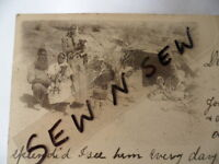 ANTIQUE VINTAGE OLD PHOTO POSTCARD ABORIGINAL FAMILY HUMPY CAMP IN THE BUSH