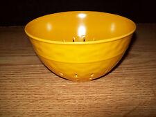 MELAMINE .8 QUART COLANDER BOWL WITH HAMMERED LOOK GOLD COLOR BPA FREE