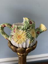 Vintage Ceramic watering daisy & fruit Planter Pot for Succulents or Plants