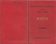 Plan ancien de la région de Melun (Seine-et-Marne) - 1904 - Excellent état