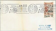 61610 -  SPAIN - POSTAL HISTORY -   POSTMARK on COVER 1981 : MUSIC  Jazz