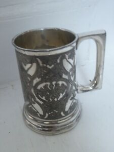 Antique 1887 Tenterden Amalgamated Bicycle Race Prize Silver Plate Pint Tankard