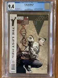 Y: THE LAST MAN #1  CGC 9.4. Vertigo 2002